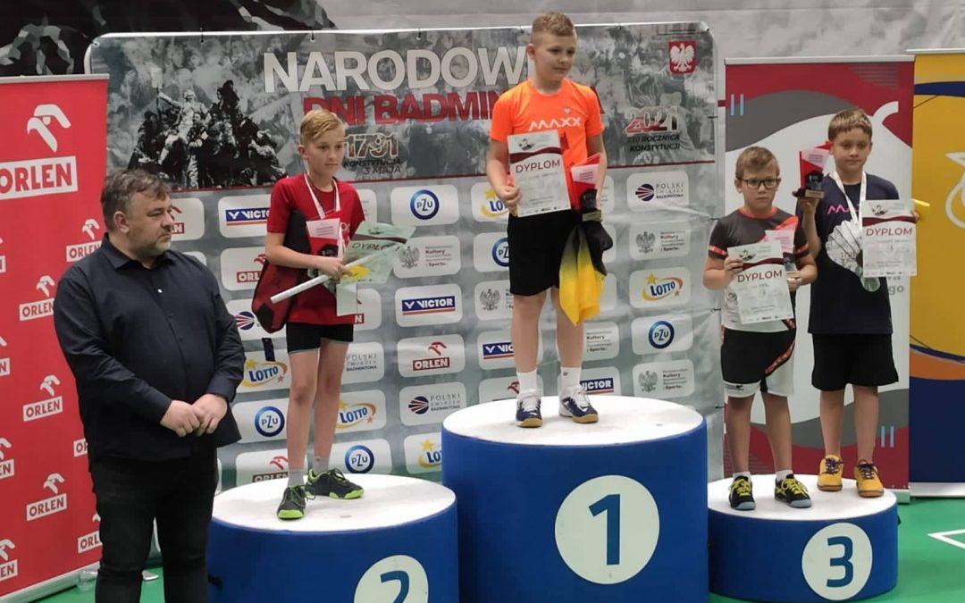Sukces ucznia klasy III b SP w badmintonie